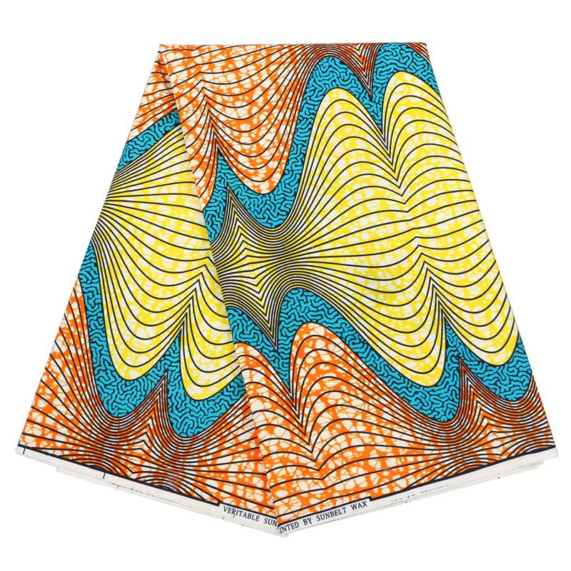 High Quality African Ankara Wax Fabric Printed Real Wax Fabric Breathable Plain Material Colorful Prints For Daily Party Casual