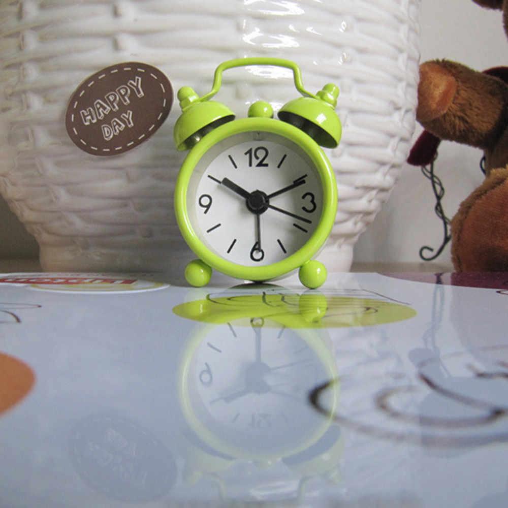 クリエイティブアラーム時計かわいいミニ金属小さなアラーム時計電子小さなラウドアラーム時計 despertador リロイ despertador 2020