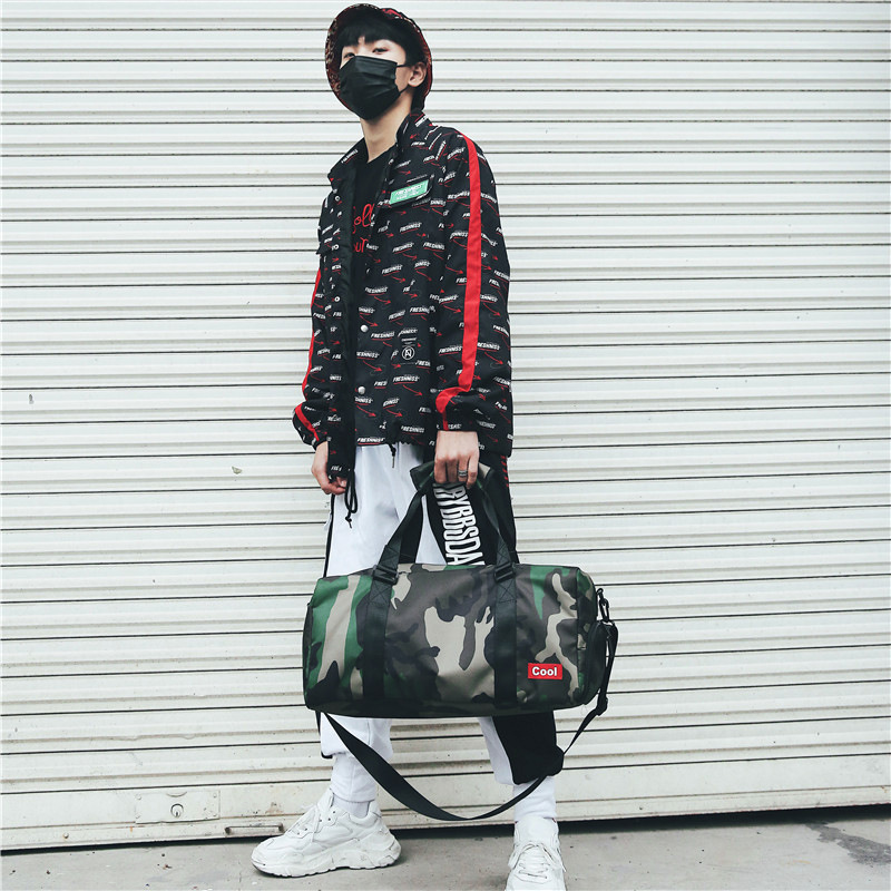 Manufacturers Direct Selling Shoulder Bag Sports Fitness Large Capacity Shoulder Bag Camouflage Bag Hong Kong Style Men And Wome