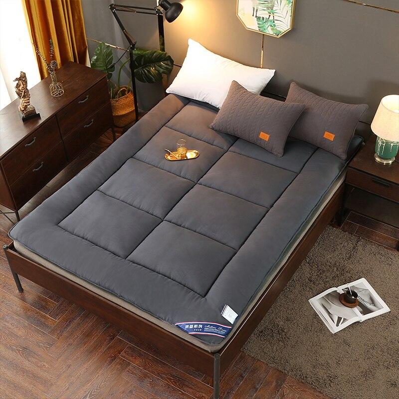 5D Breathable Peach Wood Fiber Mattress Foldable Floor Tatami Single Double Student Mattress Topper