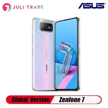 Купить Глобальная версия Asus Zenfone 7 смартфон с откидной камерой, отпечатком пальца, Snapdragon 865, тройная камера Type-C, Android, быстрая зарядка, 30 Вт