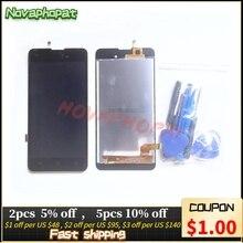 Черный экран Novaphopat для BQ 5035 BQ 5035 Velvet BQS 5035, сенсорный экран, дигитайзер, сенсорный ЖК дисплей, полная сборка, замена
