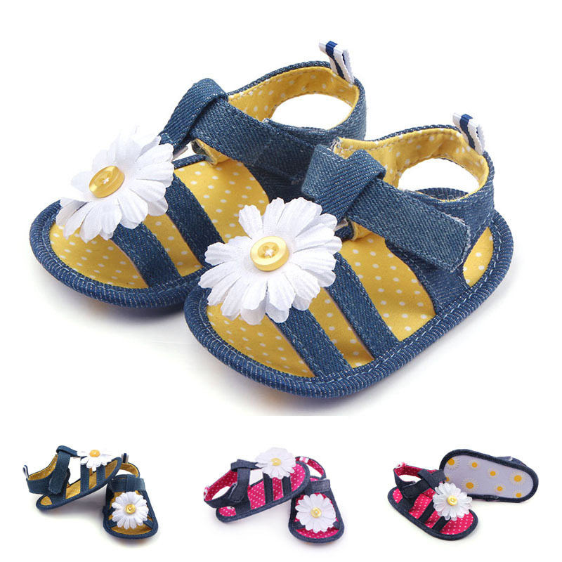Baby Shoes Summer Girls Sandals For Girls Shoes Fashion Newborn Cool Sandals Beach FLOWER Princess Soft Sole Anti-slip Shoes