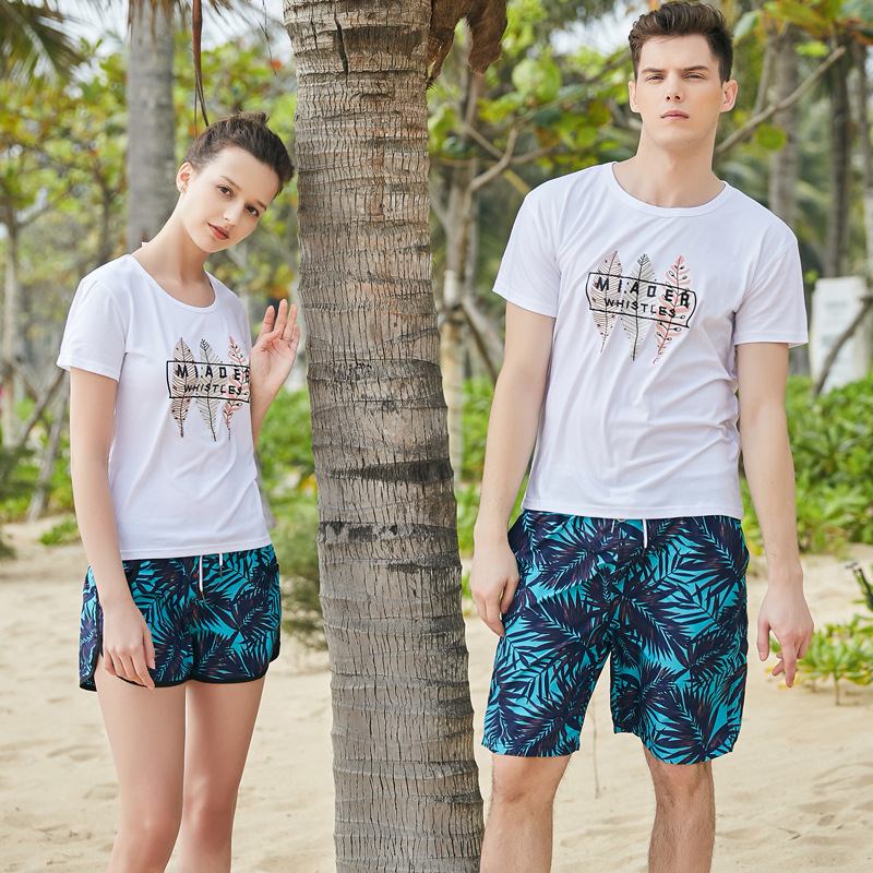 Couples Beach Shorts Men's Quick-Dry Loose And Plus-sized Swimming Surfing Spa Resort Short Quick-Drying Large Trunks WOMEN'S Sh