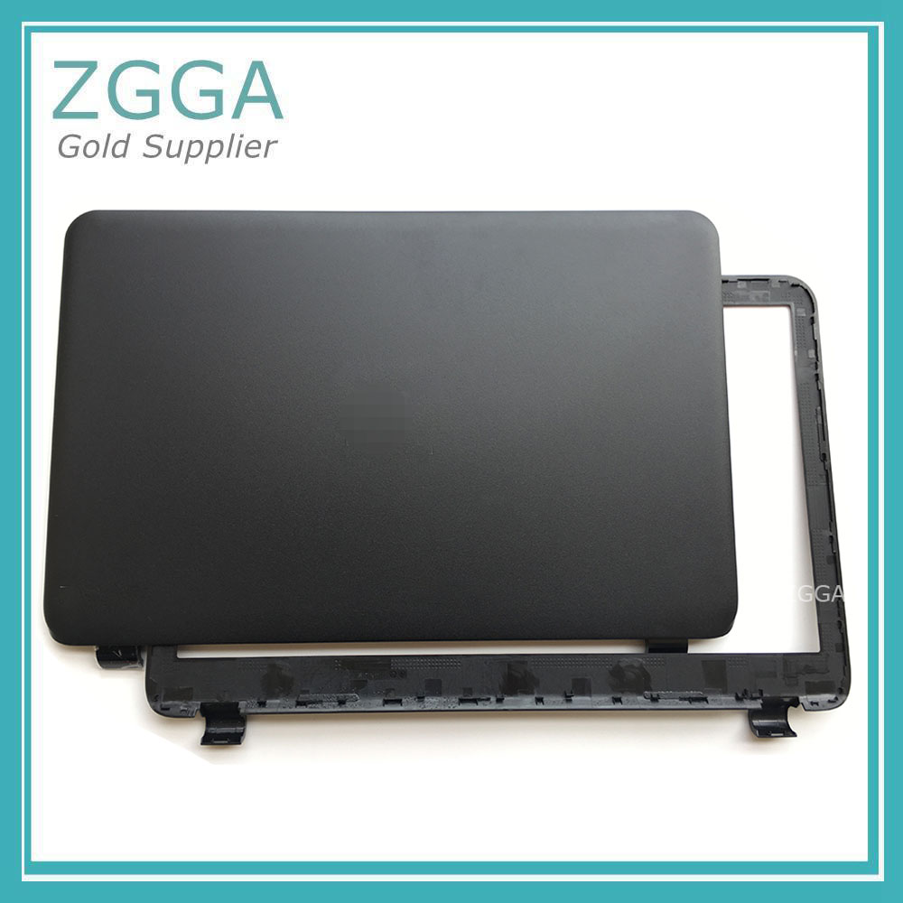 New Lcd Rear Lid For <font><b>HP</b></font> <font><b>250</b></font> 255 256 <font><b>G3</b></font> 15-G 15-H 15-R 15-T Back <font><b>Top</b></font> <font><b>Cover</b></font> & Front Bezel <font><b>Case</b></font> Black Matte 761695-001 image