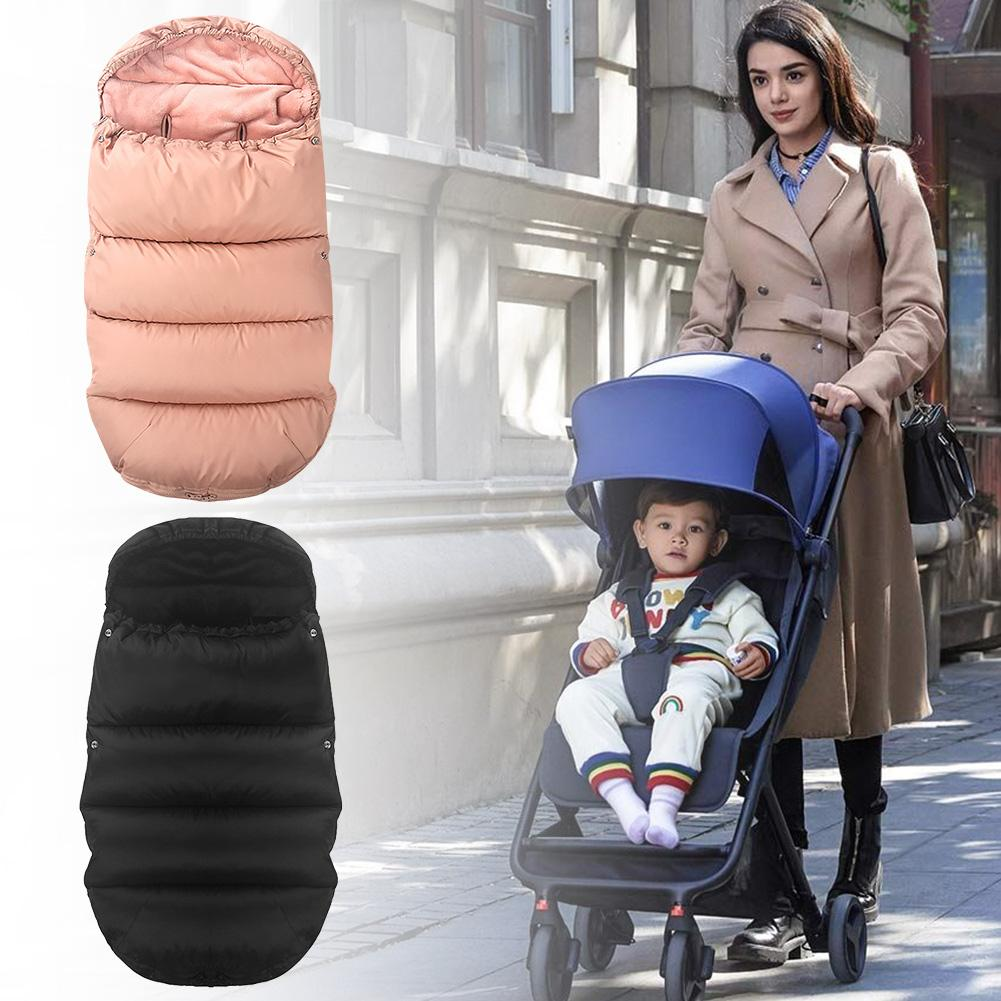 Black Baby Stroller Foot Cover Multifunction Sleeping Bag Car Mat Thick Windproof Warm Winter Wind Cover Universal Footmuff Sack