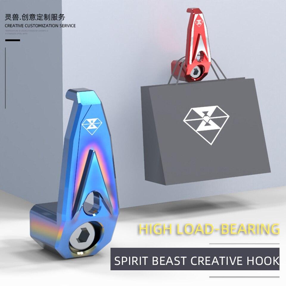 Аксессуары для мотоциклов Spirit Beast, крючок 6 мм, индивидуальный универсальный для скутера Yamaha Jog Dio Bws Zoomer Niu Vespa или более