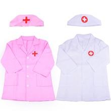 Costume Halloween Party-Coat Doctor White Robe Nurse-Uniform Role-Play Children's