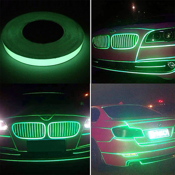 Reflective Tape Car Stickers DIY Light Luminous Night for Ford Transit Ranger Mustang Ka Fusion Focus F-150 image