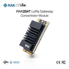 Rak2247 wislink mini pcie lora gateway módulo de concentrador sx1301 chip lorawan 1.0.2 stack spi/usb interface 868 / 915 mhz
