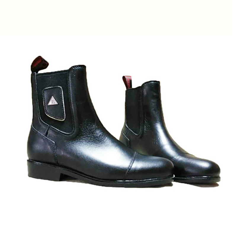 Leather Horse Riding Boots Waterproof Equestrian Boots Black Horse Riding Equipment High Quality Classical Men Equestrian Shoes