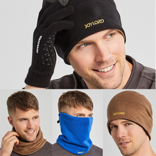 3 in 1 Winter Warm Unisex Women Men Sports Thermal Fleece Scarf Snood Neck Warmer Face Mask Beanie Hats Bonnet Caps 1Pc