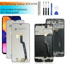 Samsung Galaxy A10 lcd A105 A105F SM A105F 2019 lcd Digitizer meclisi ile çerçeve a10 ekran değiştirme onarım parçaları