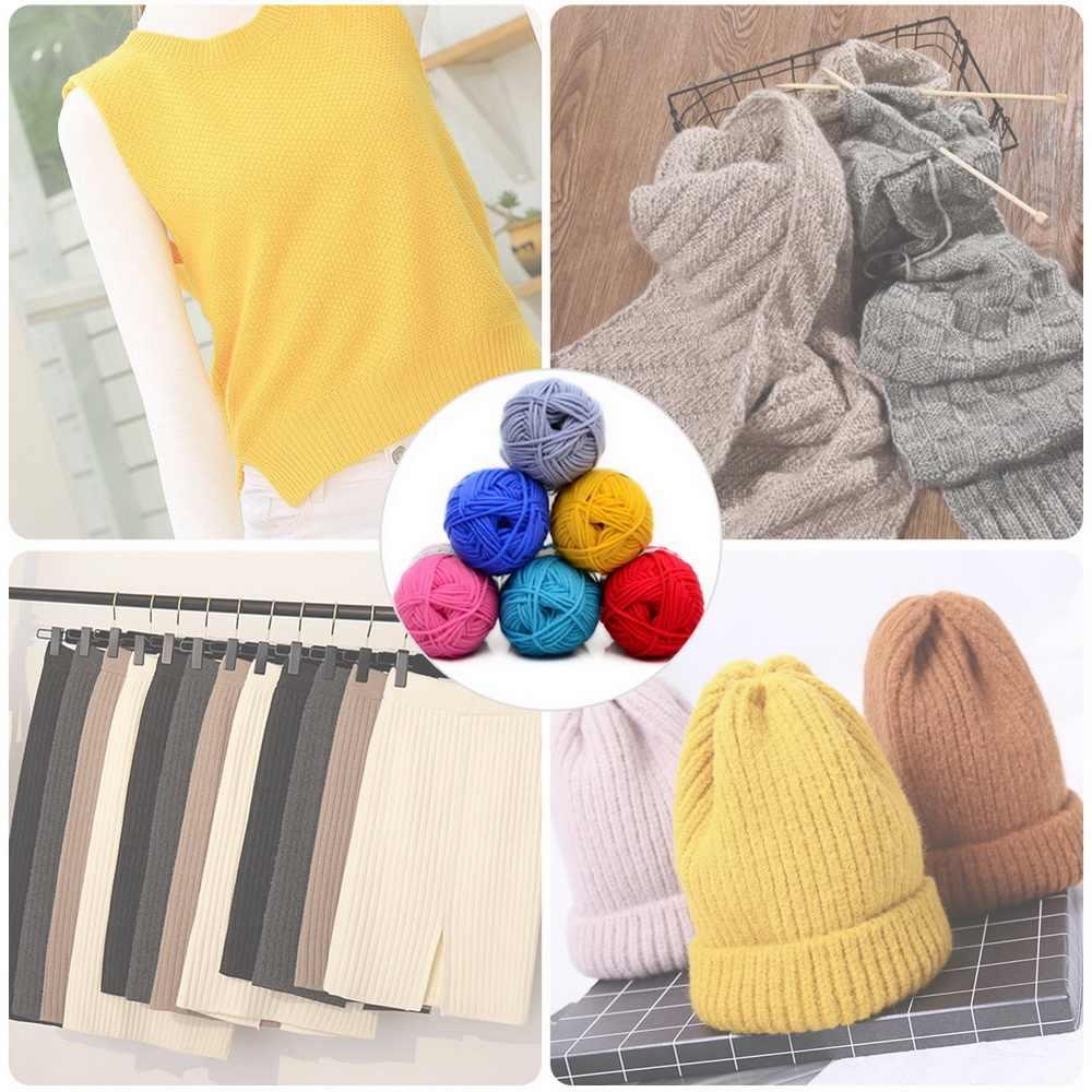 Suave leche dulce algodón Crochet hilo bebé tejer leche algodón grueso hilo tejido a mano suéter manta bufanda calcetín