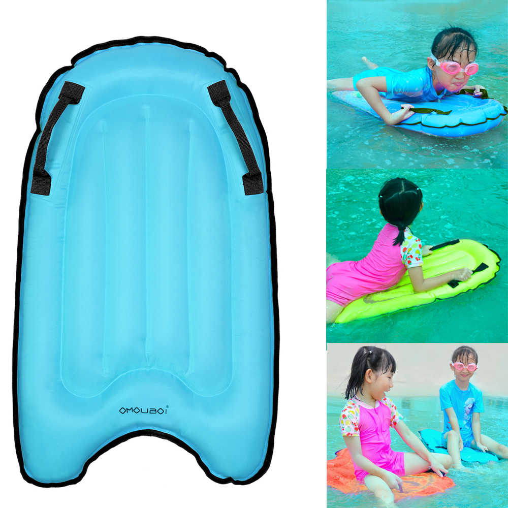 Outdoor Inflatable Surfboard Inflatable Surfboard Floating Body Board Non-Slip Portable Floating Board for Adults Children Red