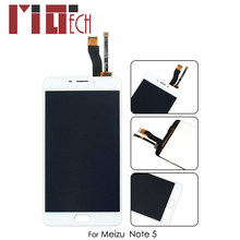 LCD Display For Meizu Note 5 Touch Screen Digitizer For Meilan M5 Note Assembly Replacement Phone Parts Black White No Frame(China)