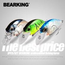 Bearking 3 pces por conjunto 65mm 14g 16g mergulho 2-3.5m wobblers iscas de pesca crankbait nadar duro isca artificial para equipamento de pesca