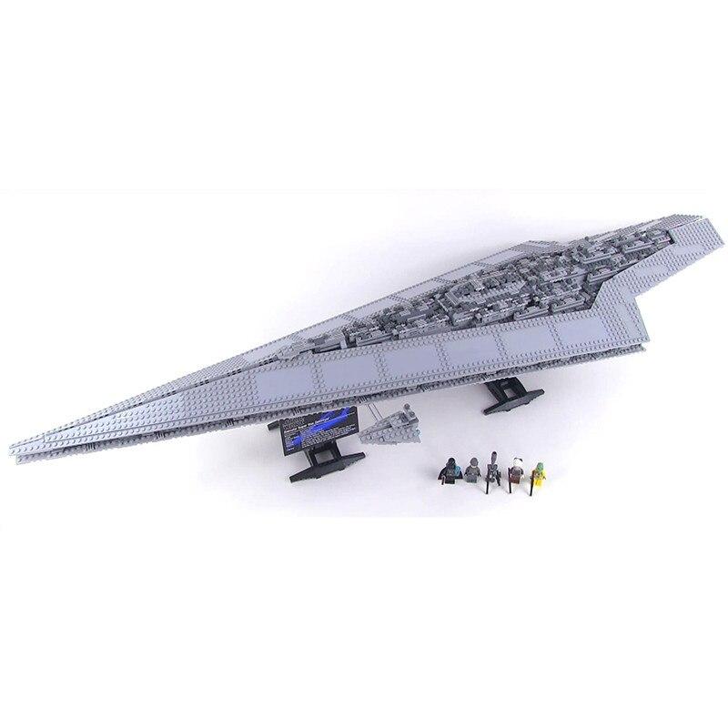 DHL 05028 3208Pcs Conjunto Estrela Guerras Execytor Super Star Destroyer Kit Modelo de Construção Bloco Tijolo Toy Compatível legoed 10221