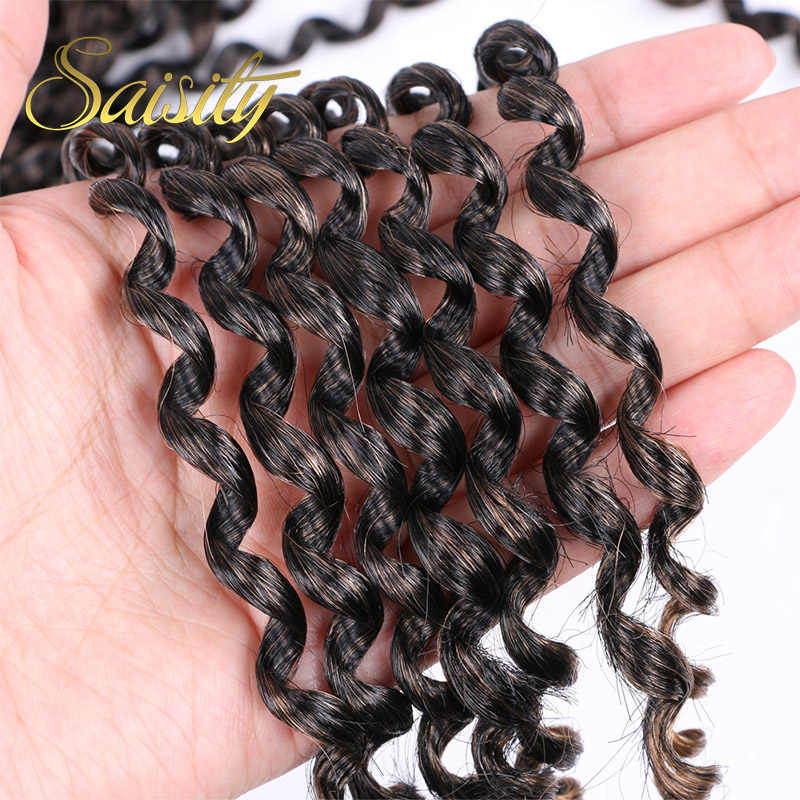 Saisity Passion primavera Twists sintético Ombre Crotchet extensiones de cabello fibra Pre looped esponjosas Twists trenzado pelo a granel