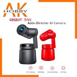 OBSBOT Tail Auto Director Ai Camera 4K Video Camera AI Tracking Shooting 1850Mah 360 4k 60fps OBSBOT Tail Ai Camera