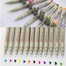 12 cores poroso-ponto canetas desenho desenho desenho desenho caneta micron 0.5mm fineliner neelde desenho caneta suprimentos