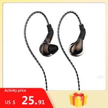 New Blon BL 03 Professional 10mm Carbon Nanotube Diaphragm High Dynamic In Ear HIFI Earphone Sport  Headphone with 2Pin Cable