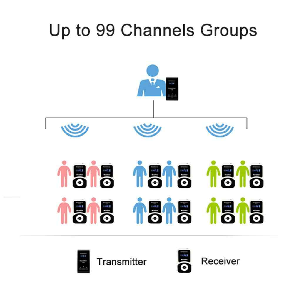 Retekess ワイヤレスツアーガイドシステム 2 トランスミッタ + 20 レシーバ + 1 充電ケース会議教会同時翻訳
