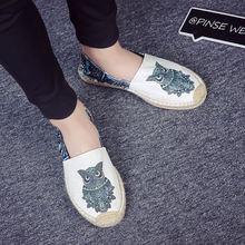 Мужские легкие холщовые туфли Повседневная модная индивидуальная