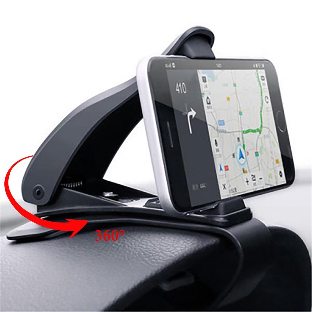 Автомобильный держатель для телефона, универсальный держатель-подставка 360 для сотового телефона в автомобиле, кронштейн для GPS приборной п...