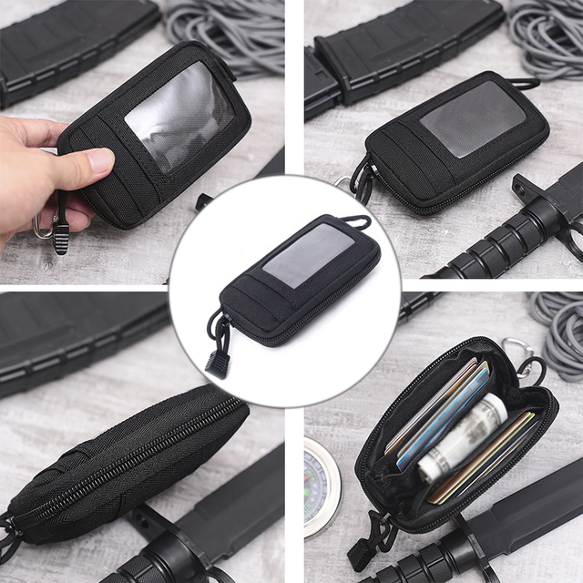 Tactical Wallet Card Bag Muti-functional Key Money Pouch Military Wallet Waist Pack for Outdoor Sports Hunting Accessory Bag 5