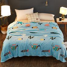 Высококачественное тонкое мягкое одеяло из кораллового флиса