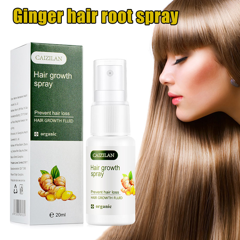 Hair Growth Spray Ginger Essence Hair Growing Spray Fast Grow Hair for Women Men 20ml B88