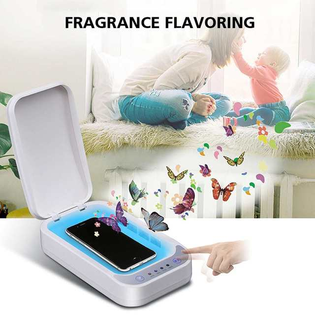 UV Disinfection Box Sanitizer Charger Prevent Flu For iPhone/Samsung Mobile Phone Headphones Mask Sterilizer Kill 99.9% Viruses 1