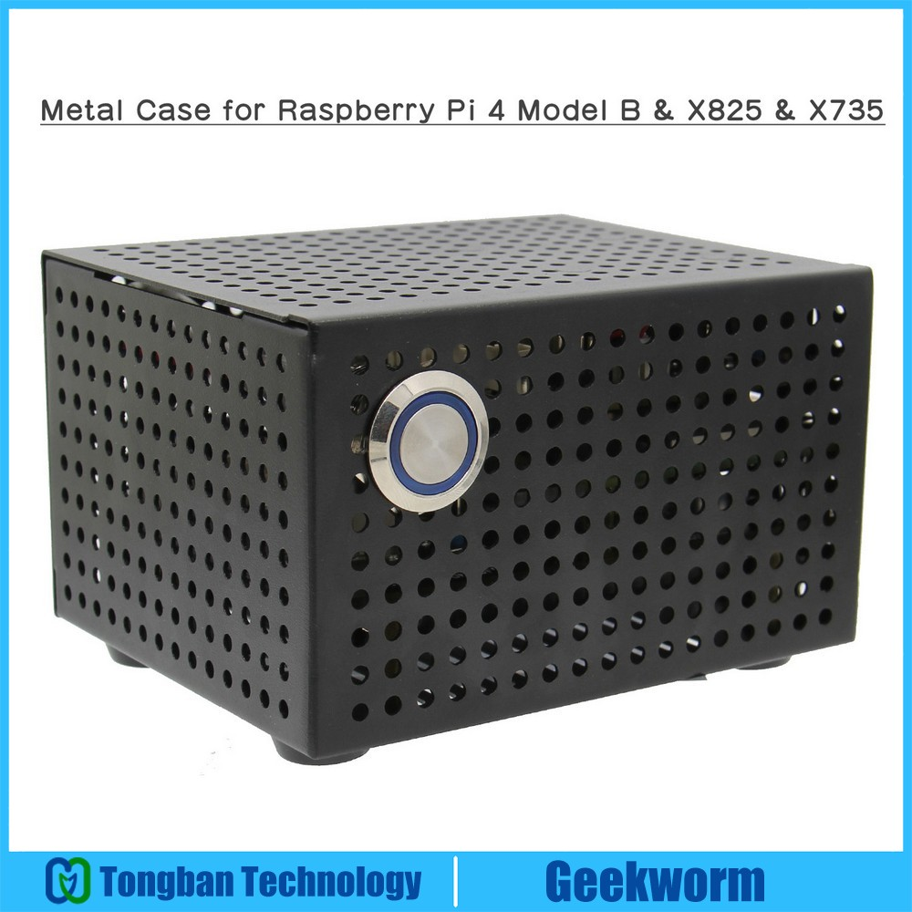 Raspberry Pi X825 SSD&HDD SATA Board Matching Metal Case+Switch+Cool Fan, Honeycomb chassis for X825 Raspberry Pi 4 Model B X735-in Demo Board Accessories from Computer & Office