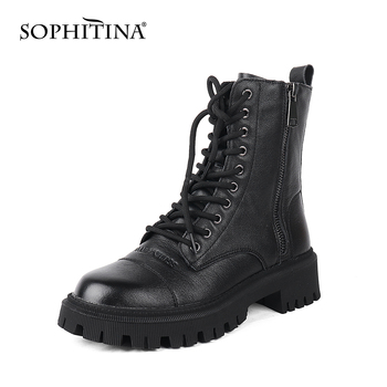 SOPHITINA Ankle Boots Soft Genuine