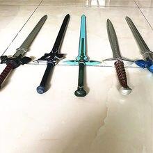 Espada arte online são kirito/kirigaya kazuto elucidator/escuro repulsor/preto espada cosplay anime espada pu sao32