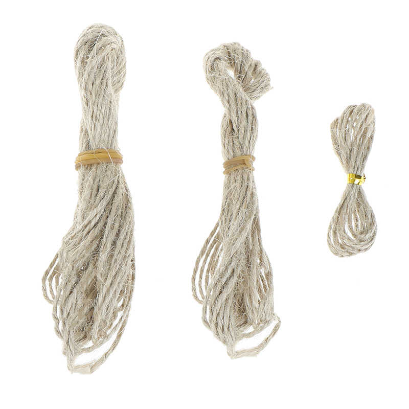 Natural Hemp Rope Jute Twine Burlap String Party Wedding Gift Wrapping Cords Thread DIY Scrapbooking Florists Craft Dec