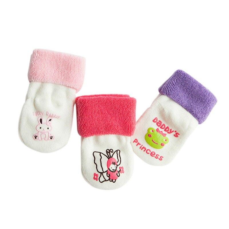 Милые хлопковые чулки для маленьких мальчиков и девочек, новые теплые махровые зимние чулки для новорожденных,# E - Цвет: Z