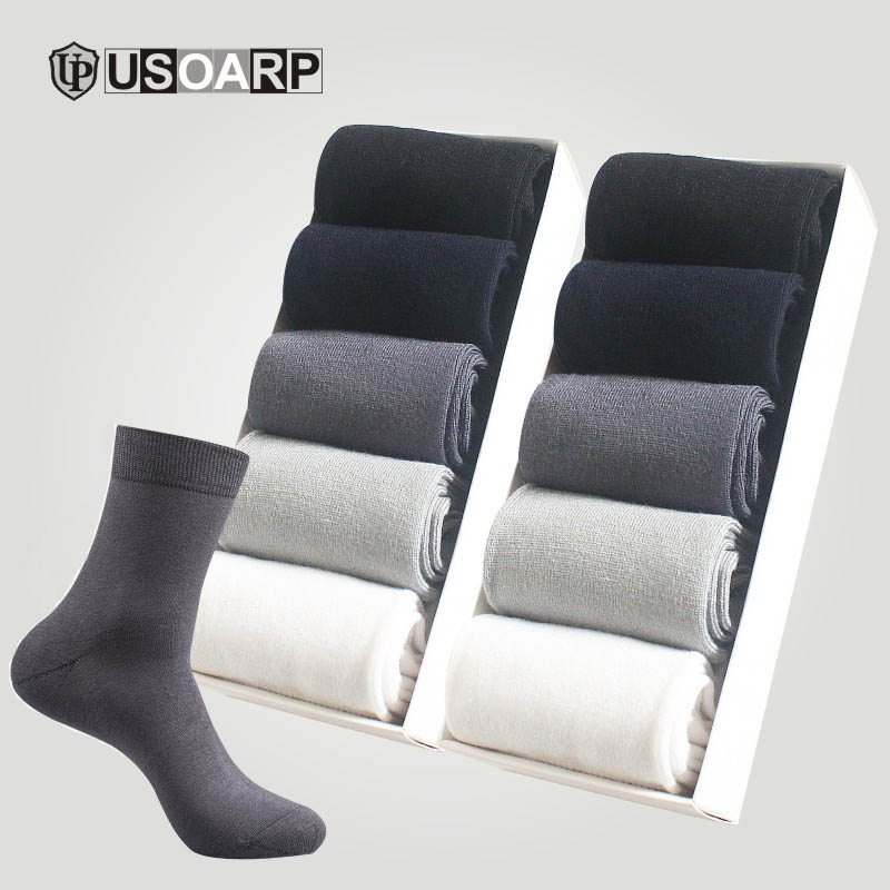 New Casual Work OL Business Men' Breathable Bamboo Socks High Quality Solid Color Does Not Smell 20pcs=(10pair) Cotton Socks
