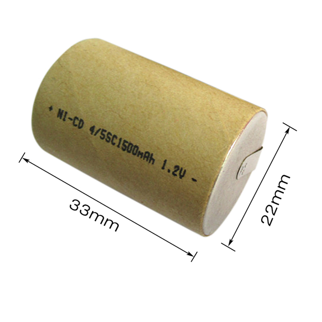 4/5SC 1.2V rechargeable battery 1500mAh 4/5 SC Sub C Ni-CD cell with welding tabs for Power Tools electric drill screwdriver