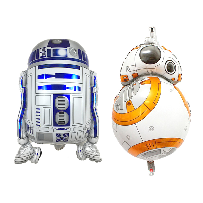 10Pcs Star War 9 Balloons <font><b>BB8</b></font> <font><b>Robot</b></font> Foil Helium Balloon Boy Child Birthday Party Decorations Adult <font><b>Toy</b></font> Cartoon Supplie Wholesale image