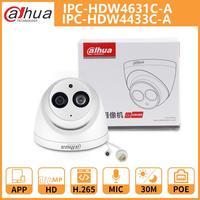 Dh Dahua Ip Camera 4MP 6MP IPC-HDW4631C-A IPC-HDW4433C-A Dome Cctv Camera Met Ir Poe Ingebouwde Microfoon Netwerk Metalen shell Onvif