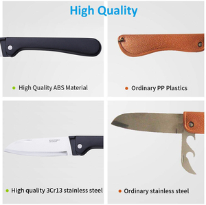 Image 4 - Couteau pliant de cuisine, couteau de poche en acier inoxydable, Mini couteau pliant Portable coupe fruits, couteau de Camping, outil de survie en plein air