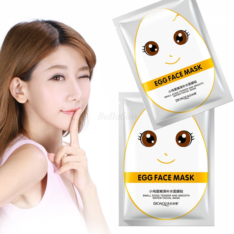 BIOAQUA 10Pcs Eggs Facial Mask Moisturise Revitalizing  Whitening Beauty Face Care