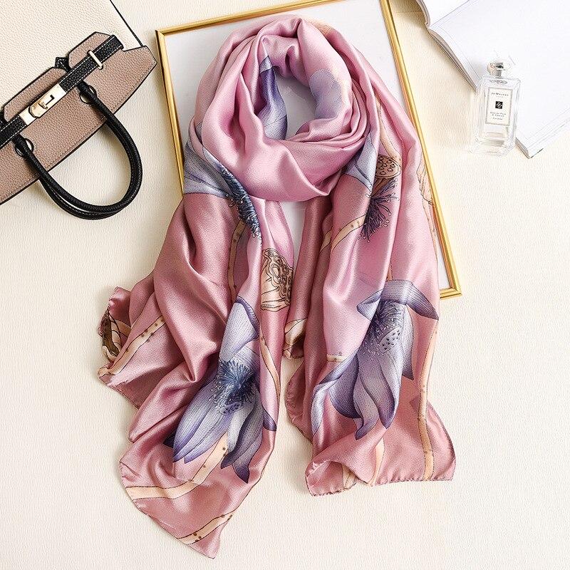 Luxury Brand Silk Scarves Autumn Winter Lady Popular New Style Print Cotton Scarf Women Sunscreen Shawl Fashion Headscarf