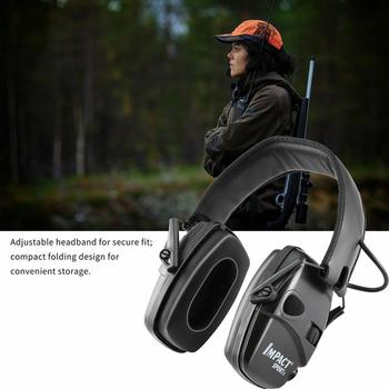 Electronic Shooting Earmuff Outdoor Anti-noise Impact Sound Headset Tactical Hearing Protective Headset