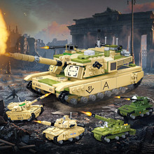 698Pcs M1A2 1:28 Main Battle Tank Building Blocks Sets Modern Military Model Kits Army DIY Bricks Educational Toys for Children tamiya35269 tank assembly model american m1a2 abrams tank model