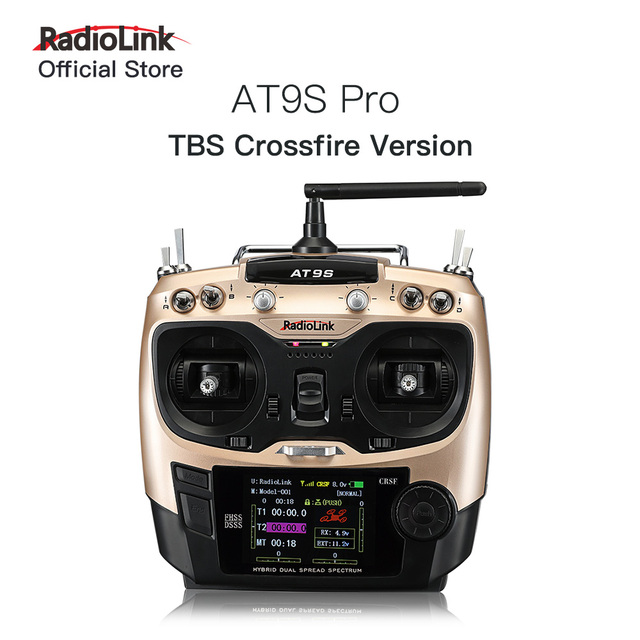 Radiolink AT9S Pro 10 Channels RC Transmitter Remote Controller Support Crossfire Protocol with R12DSM 2 4G for Aircraft Drone