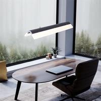 현대 스트립 LED 펜 던 트 램프 다 이닝 룸 조명 간단한 아트 곡선 교수형 빛 거실 램프 디자이너 조명기구