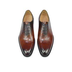 Image 5 - Dress Shoe Men Genuine Leather Vintage Retro Custom Blake Handmade Office Fashion Formal Wedding Party Oxford Shoes